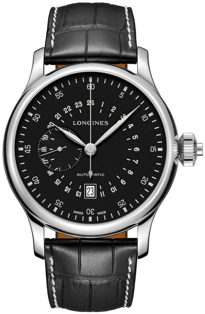 Longines Heritage Herrklocka L2.797.4.53.0 Svart/Läder Ø47.5 mm