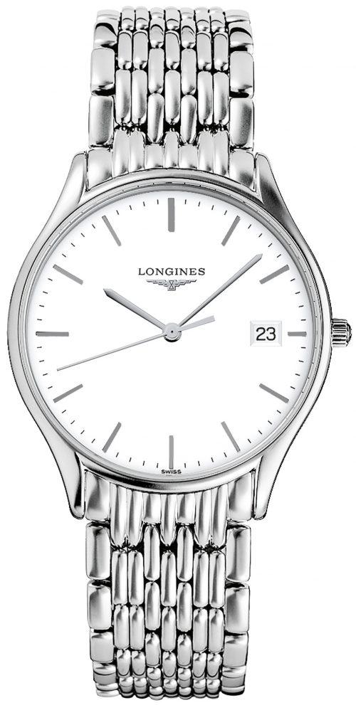 Longines Lyre Herrklocka L4.759.4.12.6 Vit/Stål Ø35 mm