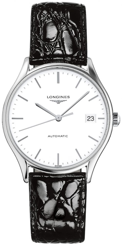 Longines Lyre Herrklocka L4.860.4.12.2 Vit/Läder Ø35 mm