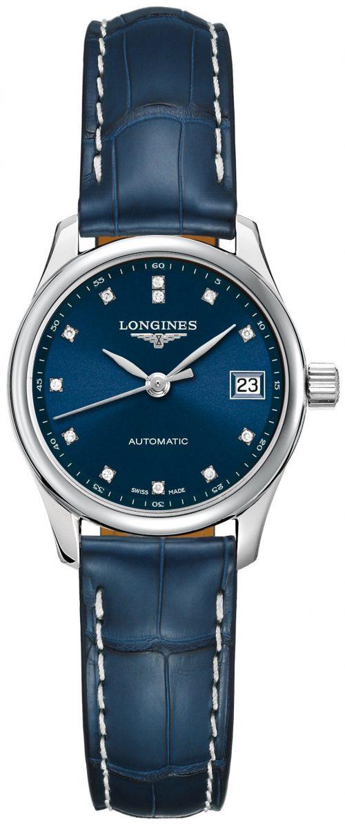 Longines Master Damklocka L2.128.4.97.0 Blå/Läder Ø25.5 mm