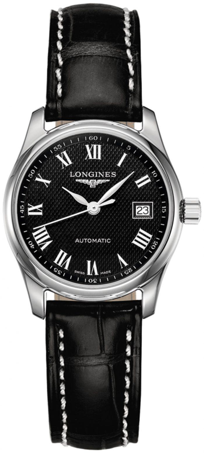 Longines Master Damklocka L2.257.4.51.7 Svart/Läder Ø29 mm