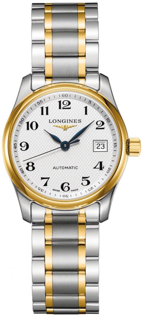 Longines Master Damklocka L2.257.5.78.7 Silverfärgad/18 karat gult