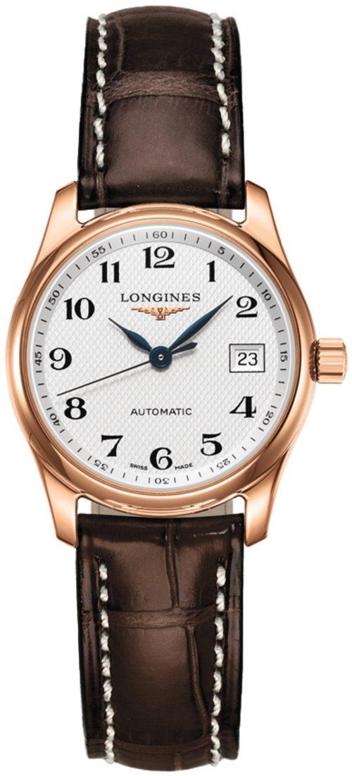 Longines Master Damklocka L2.257.8.78.3 Silverfärgad/Läder Ø29 mm