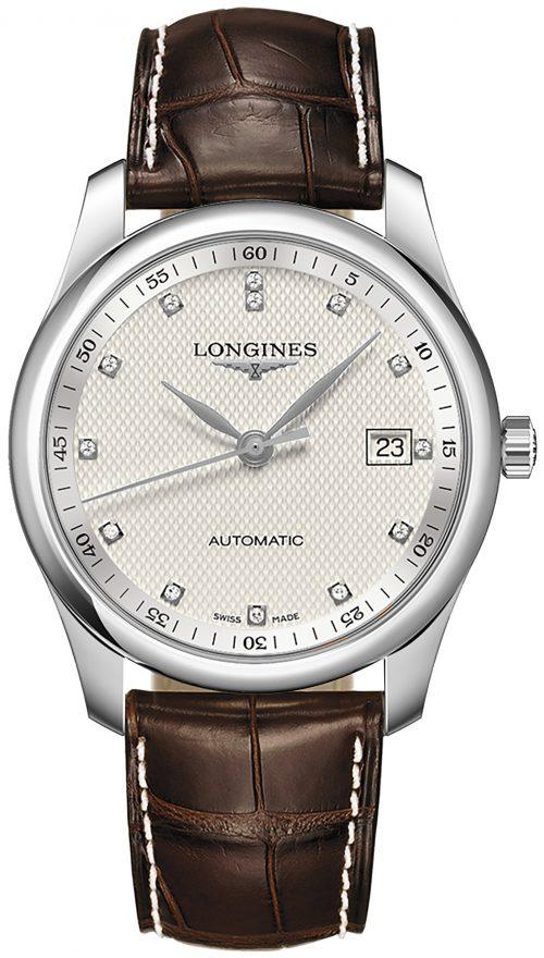 Longines Master Herrklocka L2.793.4.77.3 Silverfärgad/Läder Ø40 mm