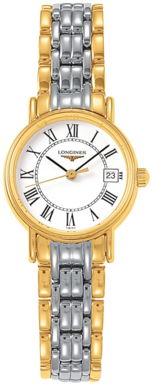 Longines Presences Damklocka L4.319.2.11.7 Vit/Gulguldtonat stål