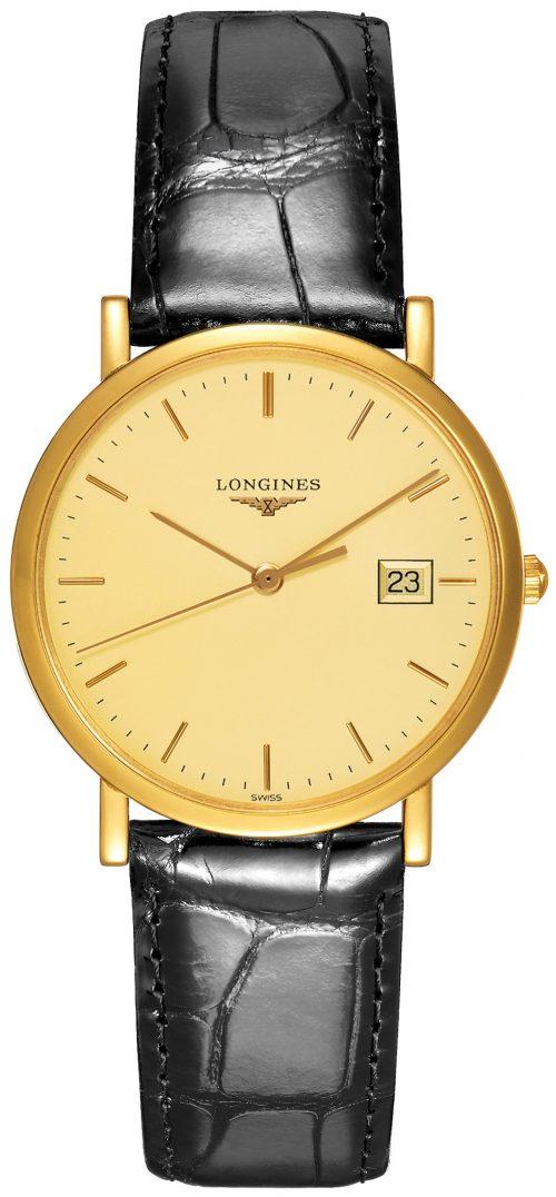 Longines Presences Damklocka L4.777.6.32.0 Gulguldstonad/Läder Ø34