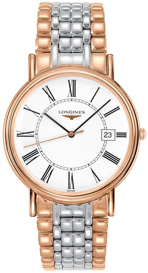 Longines Presences Herrklocka L4.790.1.11.7 Vit/Roséguldstonat stål