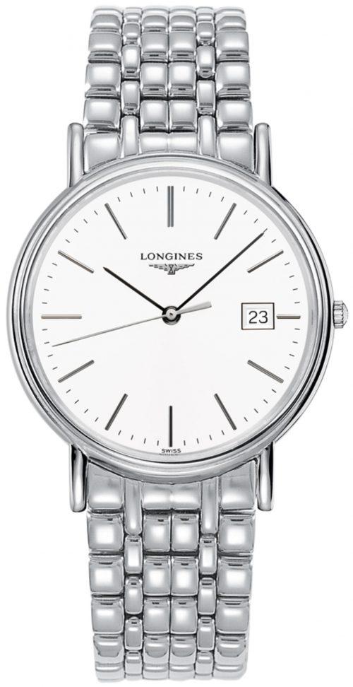 Longines Presences Herrklocka L4.790.4.12.6 Vit/Stål Ø38.5 mm