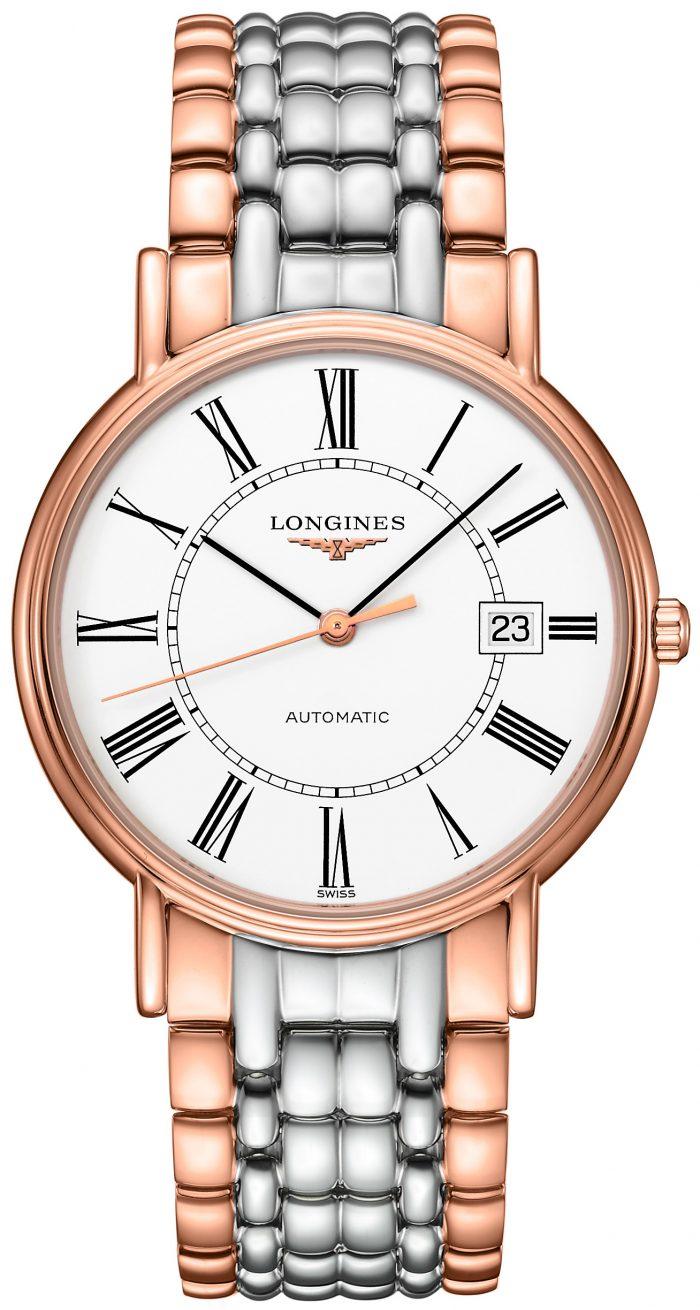 Longines Presences Herrklocka L4.921.1.11.7 Vit/Roséguldstonat stål