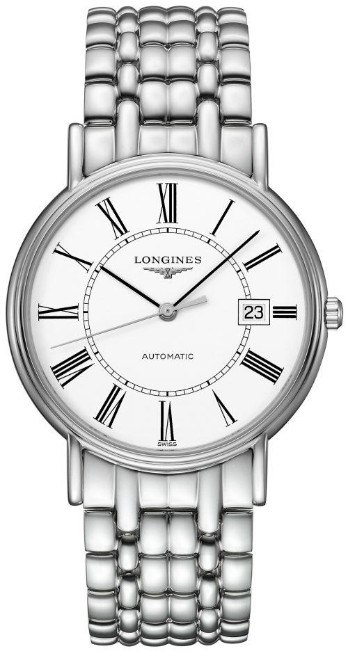 Longines Presences Herrklocka L4.921.4.11.6 Vit/Stål Ø38.5 mm