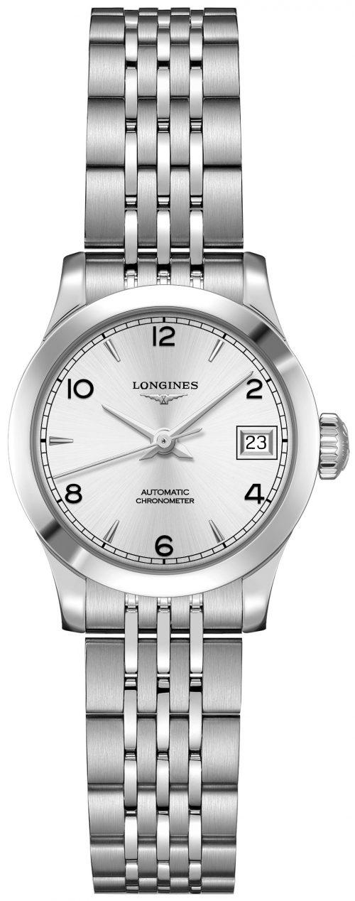 Longines Record Damklocka L2.320.4.76.6 Silverfärgad/Stål Ø26 mm