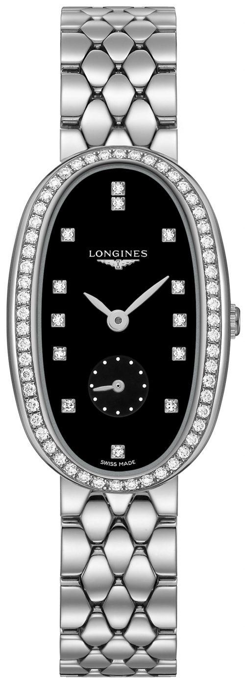 Longines Symphonette Damklocka L2.307.0.57.6 Svart/Stål Ø24.9 mm