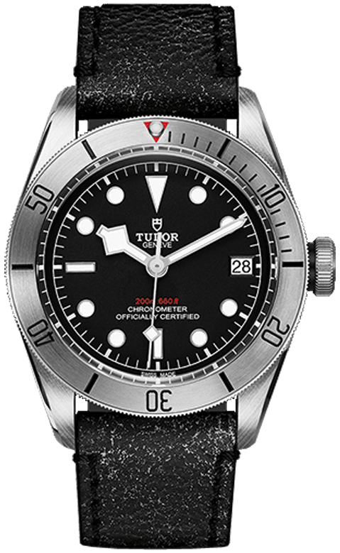 Tudor Black Bay Steel Herrklocka 79730-0003 Svart/Läder Ø41 mm