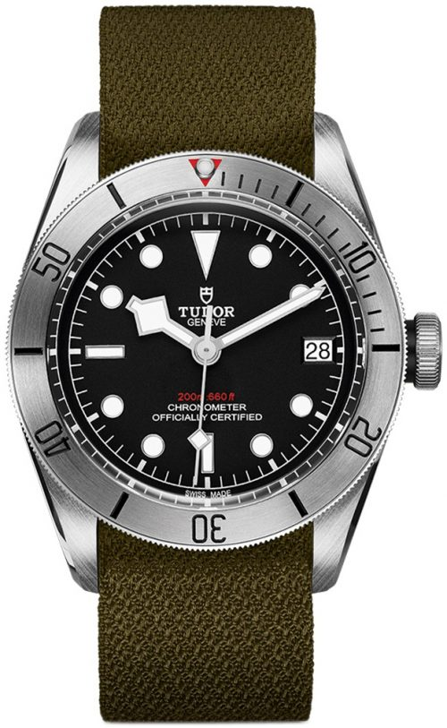 Tudor Black Bay Steel Herrklocka 79730-0004 Svart/Textil Ø41 mm
