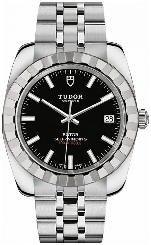 Tudor Classic Date Herrklocka 21010-0002 Svart/Stål Ø38 mm