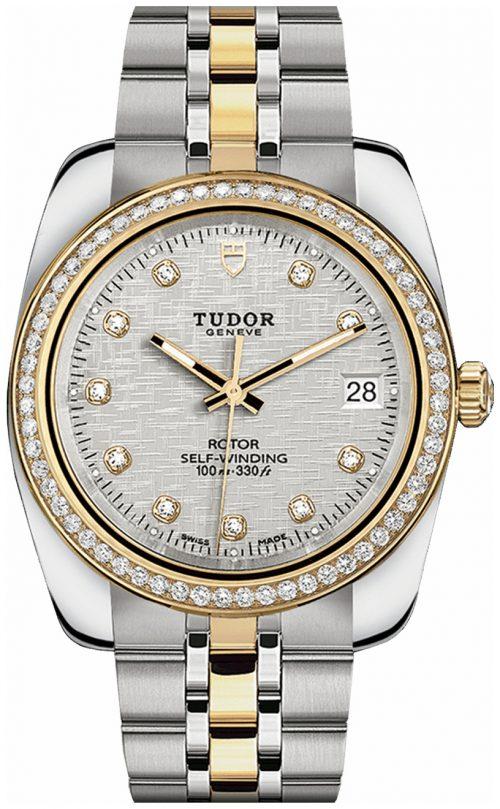 Tudor Classic Date Herrklocka 21023-0004 Silverfärgad/18 karat gult