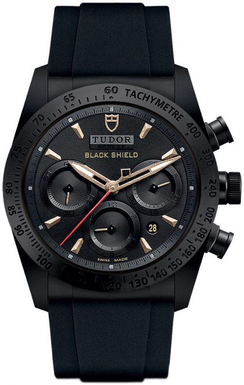 Tudor Fastrider Black Shield Herrklocka 42000cn-0005 Svart/Gummi Ø42