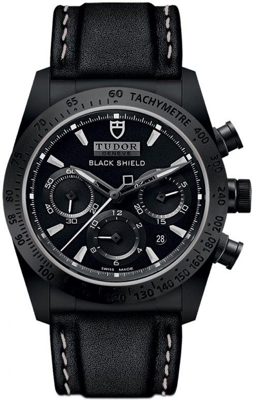Tudor Fastrider Black Shield Herrklocka 42000cn-0017 Svart/Läder