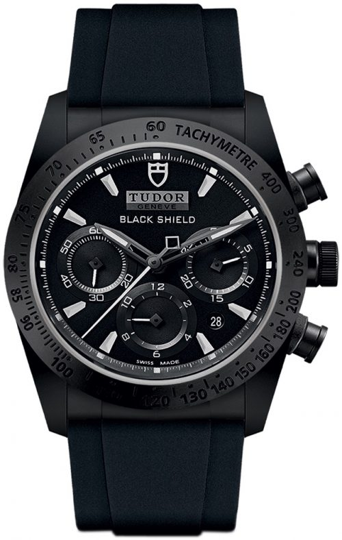 Tudor Fastrider Black Shield Herrklocka 42000cn-0018 Svart/Gummi Ø42