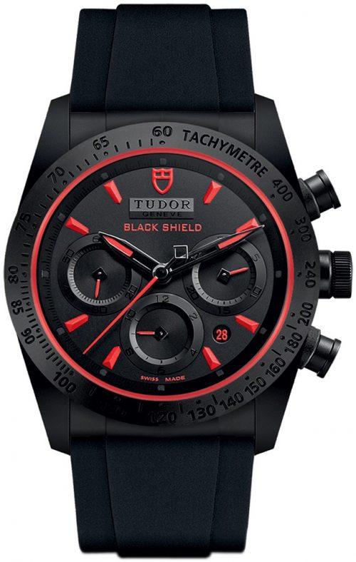 Tudor Fastrider Black Shield Herrklocka 42000cr-0001 Svart/Gummi Ø42