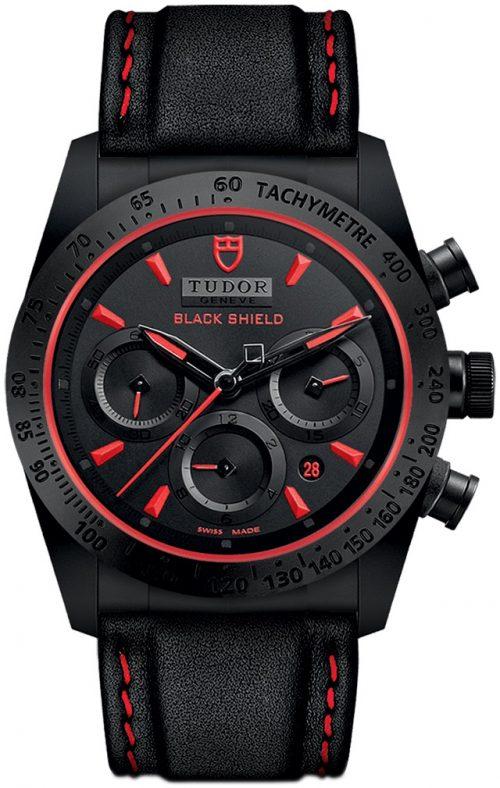Tudor Fastrider Black Shield Herrklocka 42000cr-0002 Svart/Läder