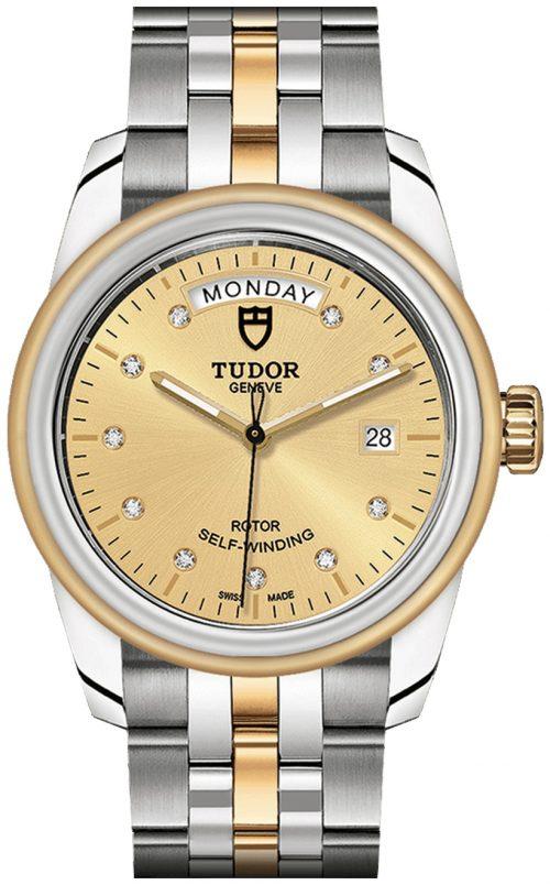 Tudor Glamour Date Day Herrklocka 56003-0006 Gulguldstonad/18 karat
