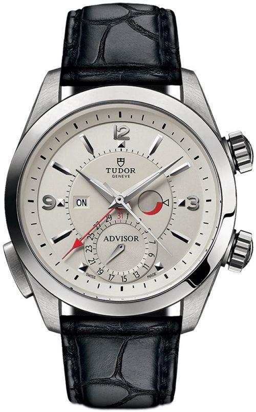 Tudor Heritage Advisor Herrklocka 79620t-0003 Silverfärgad/Läder