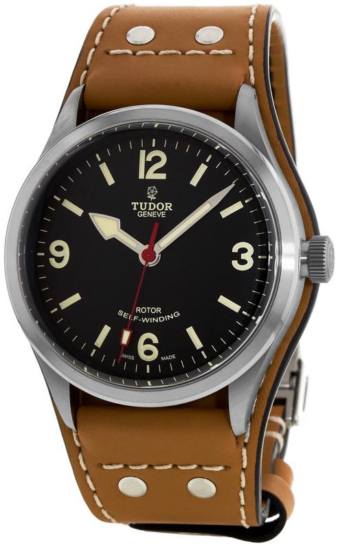 Tudor Heritage Ranger Herrklocka 79910-0002 Svart/Läder Ø41 mm