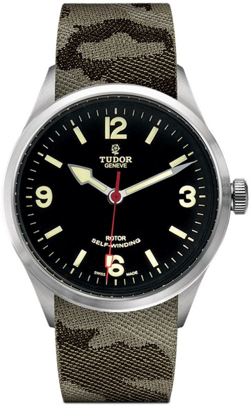 Tudor Heritage Ranger Herrklocka 79910-0009 Svart/Textil Ø41 mm