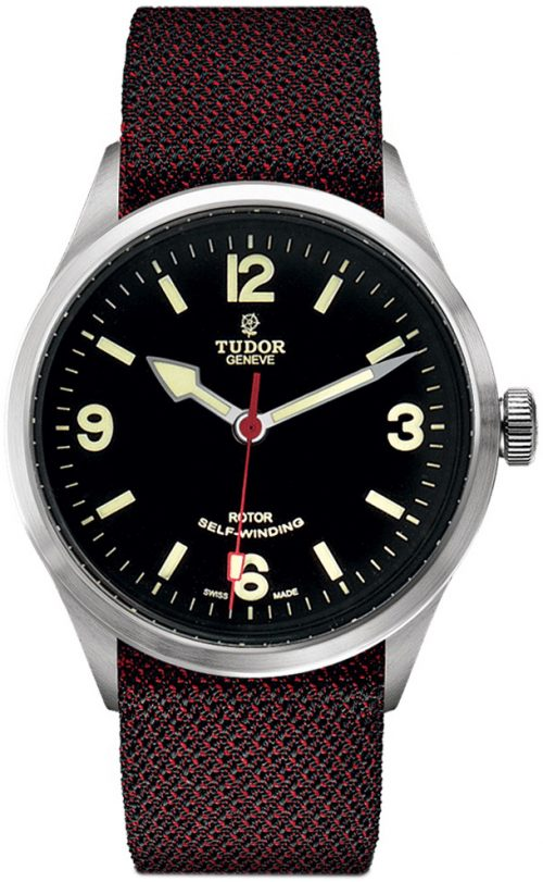 Tudor Heritage Ranger Herrklocka 79910-0010 Svart/Textil Ø41 mm
