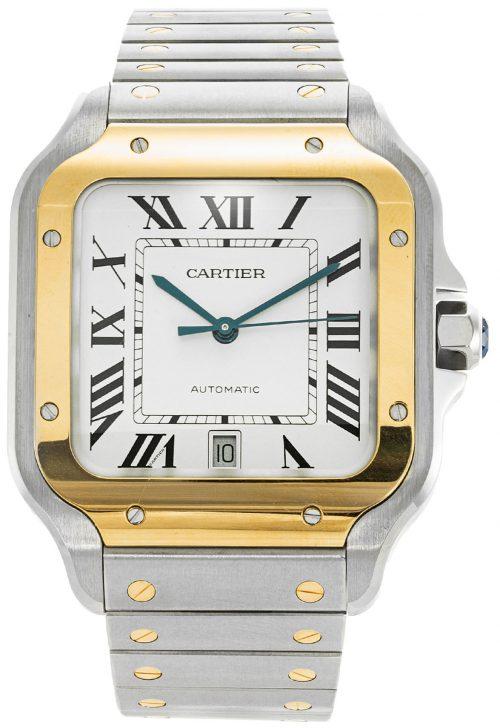 Cartier Santos De Cartier Herrklocka W2SA0006 Vit/Stål
