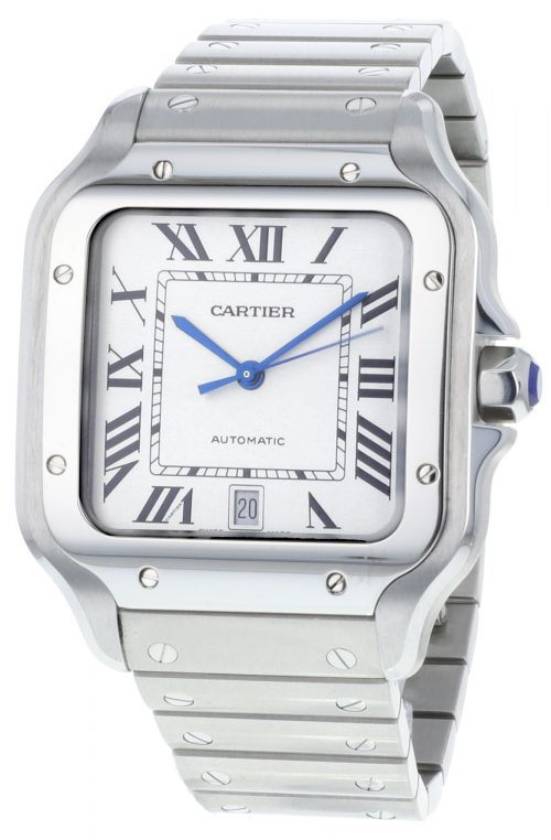 Cartier Santos De Cartier Herrklocka WSSA0009 Vit/Stål
