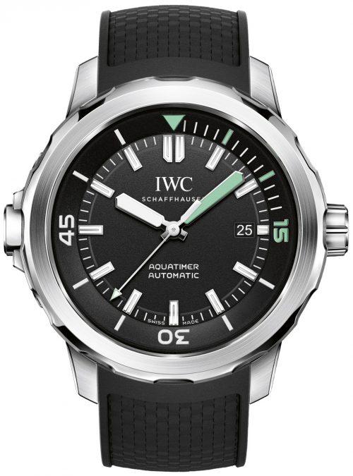 IWC Aquatimer Herrklocka IW329001 Svart/Gummi Ø42 mm