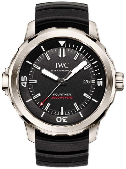 IWC Aquatimer Herrklocka IW329101 Svart/Gummi Ø42 mm