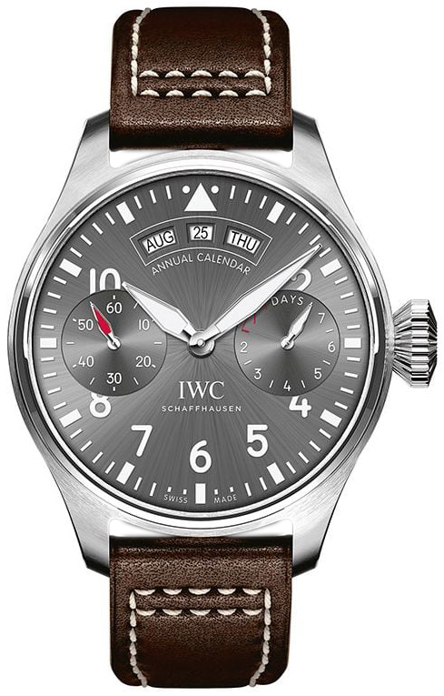 IWC Pilots Spitfire Herrklocka IW502702 Grå/Läder Ø46.2 mm