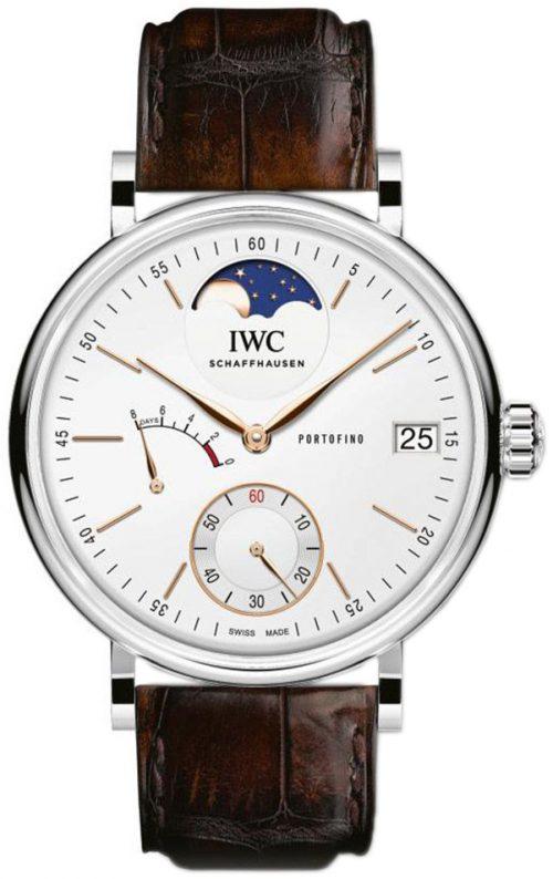 IWC Portofino Herrklocka IW516401 Silverfärgad/Läder Ø45 mm