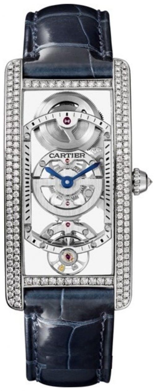 Cartier Tank Cintree Damklocka HPI01123 Skelettskuren/Läder