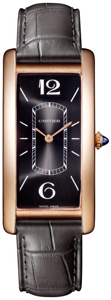 Cartier Tank Cintree Damklocka WGTA0025 Svart/Läder