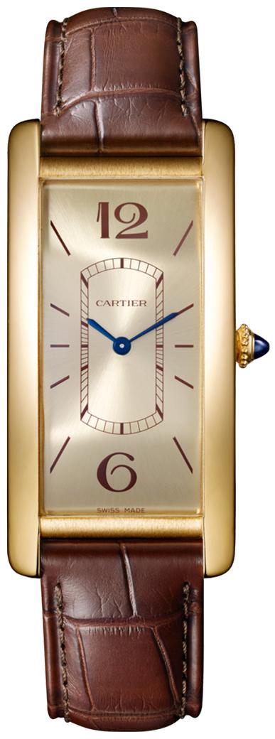 Cartier Tank Cintree Damklocka WGTA0026 Champagnefärgad/Läder