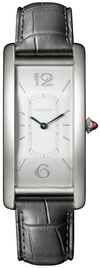 Cartier Tank Cintree Damklocka WGTA0027 Silverfärgad/Läder