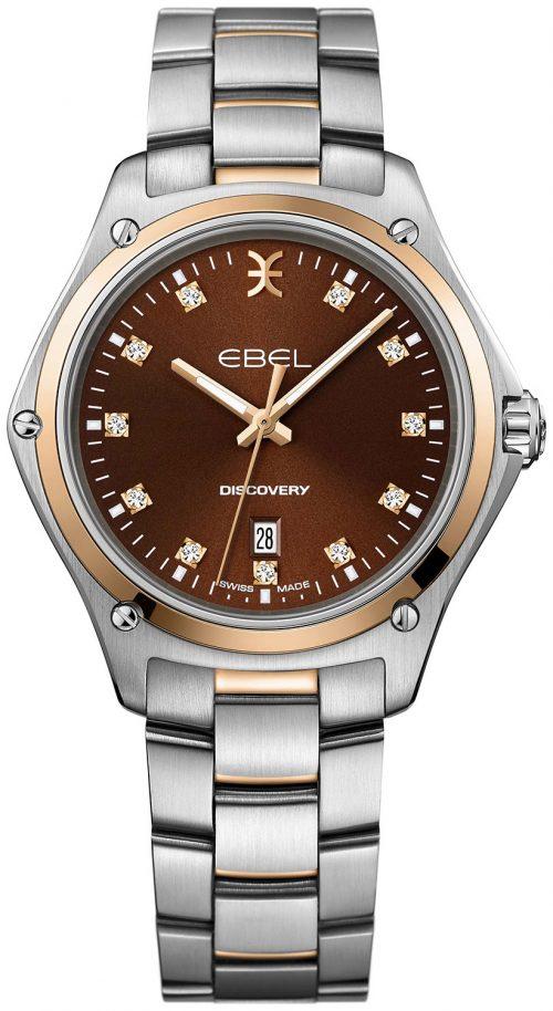 Ebel Discovery Damklocka 1216425 Brun/18 karat roséguld Ø33 mm