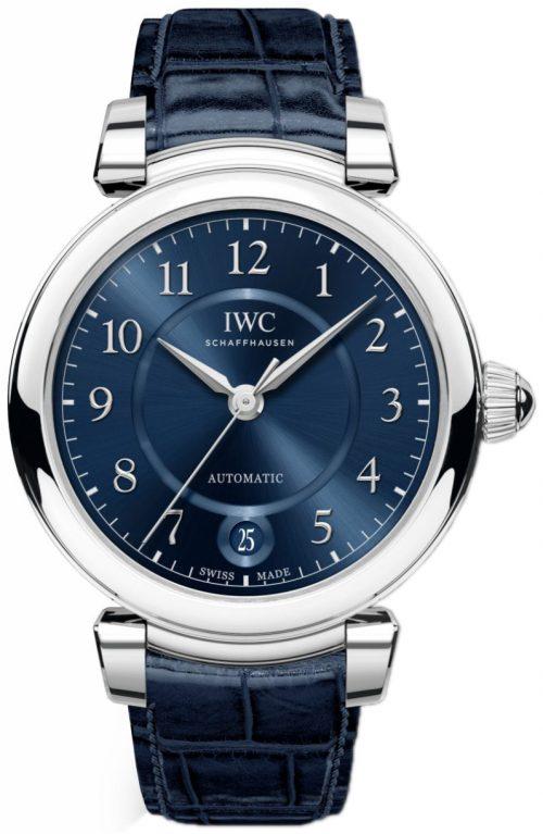 IWC Da Vinci Damklocka IW458312 Blå/Läder Ø36 mm