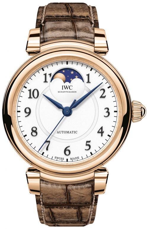 IWC Da Vinci Damklocka IW459308 Silverfärgad/Läder Ø36 mm