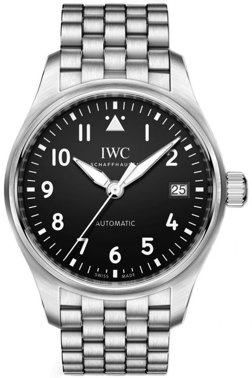 IWC Pilots Herrklocka IW324010 Svart/Stål Ø36 mm