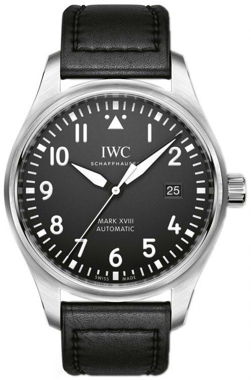 IWC Pilots Herrklocka IW327009 Svart/Läder Ø40 mm