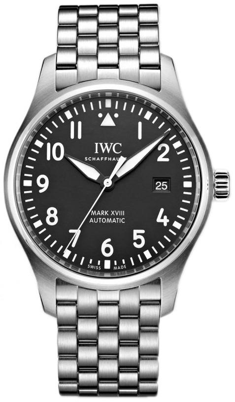 IWC Pilots Herrklocka IW327015 Svart/Stål Ø40 mm