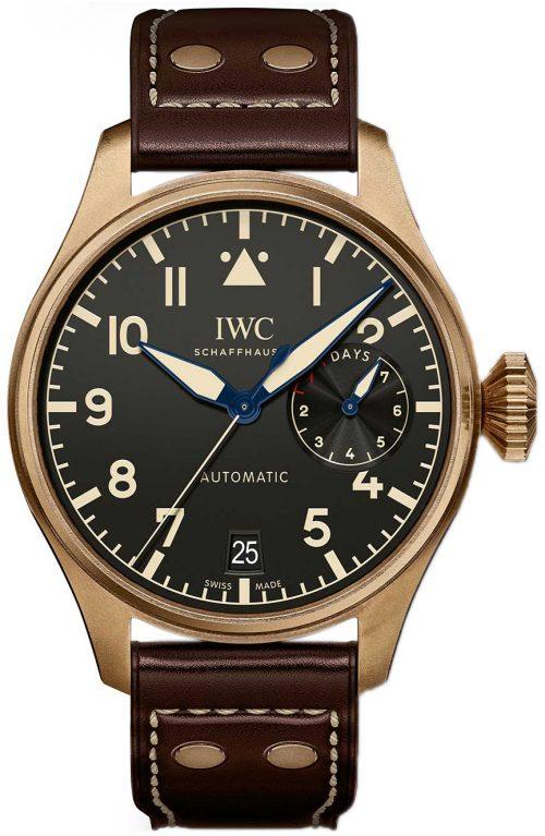 IWC Pilots Herrklocka IW501005 Svart/Läder Ø46.2 mm