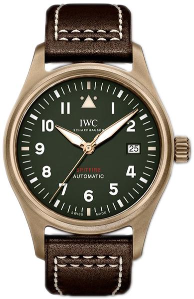IWC Pilots Spitfire Herrklocka IW326802 Grön/Läder Ø39 mm