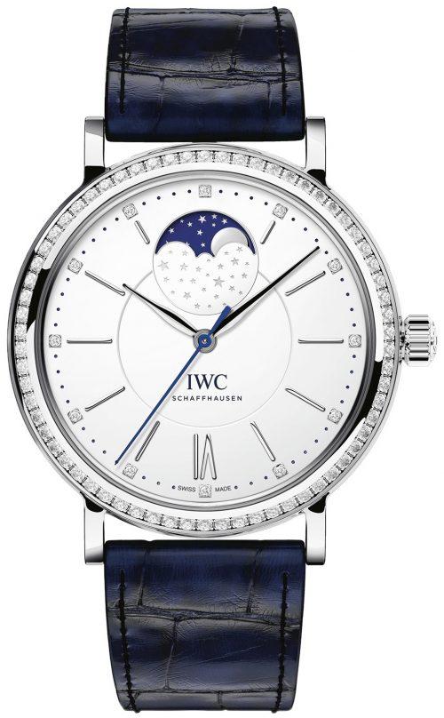 IWC Portofino Damklocka IW459008 Silverfärgad/Läder Ø37 mm