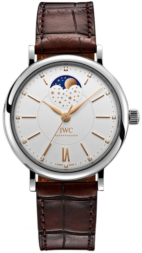 IWC Portofino Damklocka IW459011 Silverfärgad/Läder Ø37 mm